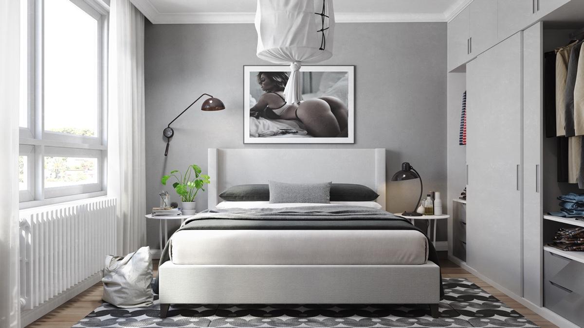 small white bedroom design
