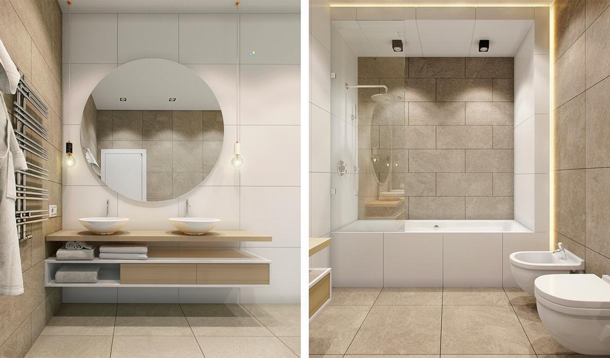 small white bathroom design