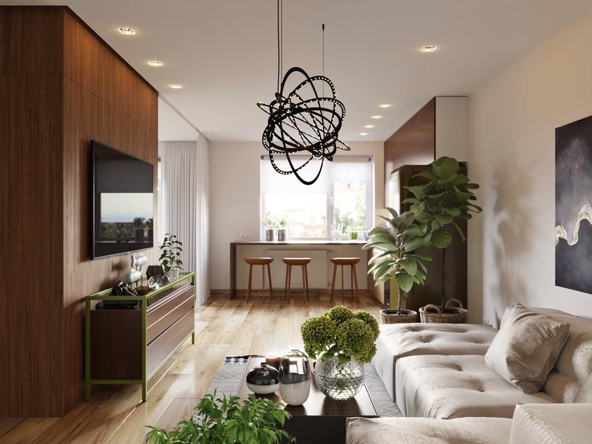 chic studio apartment design