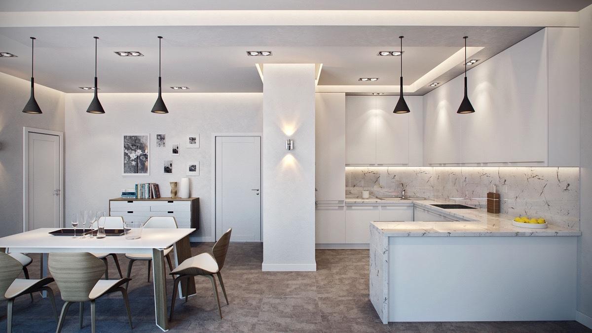 luxury white kitchen