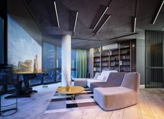 industrial small apartment design