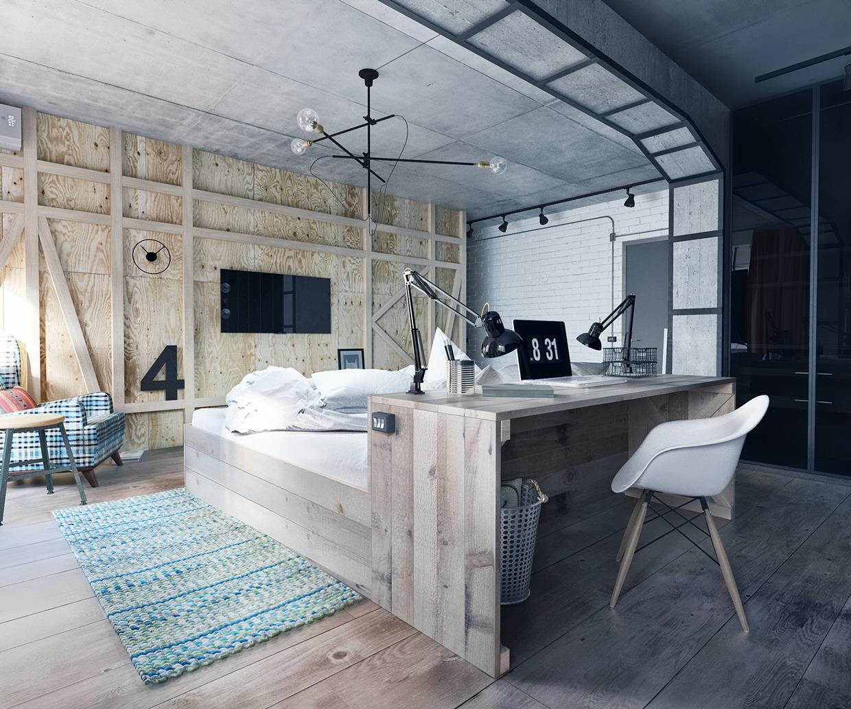 contemporary white bedroom decor