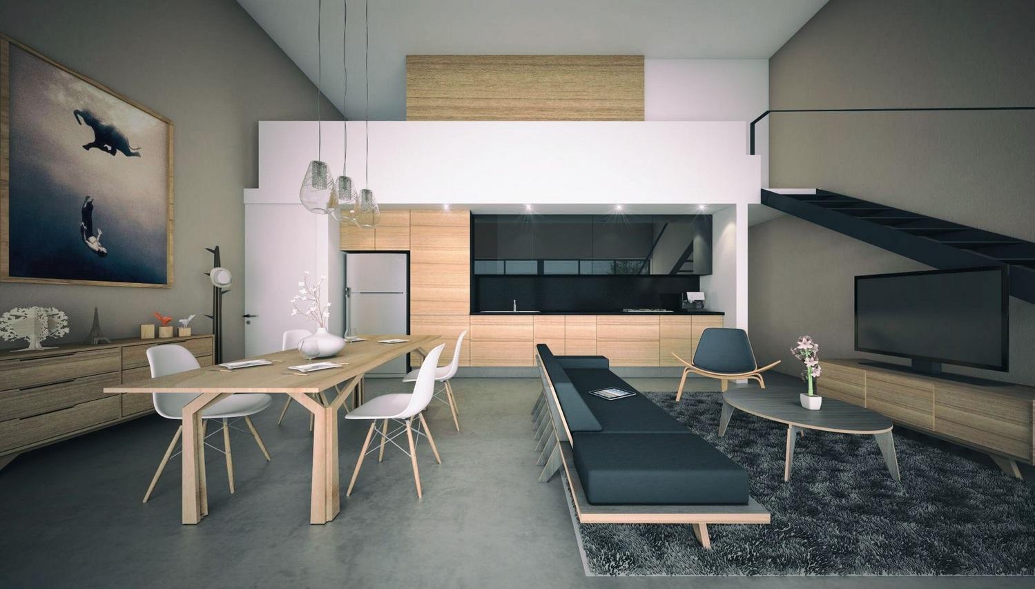 minimalist open plan apartment ideas