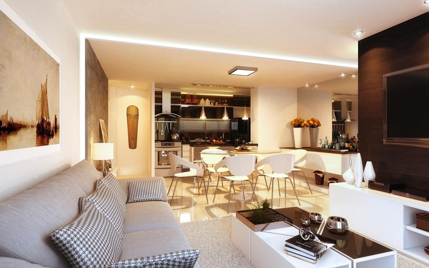 modern spacious open plan apartment