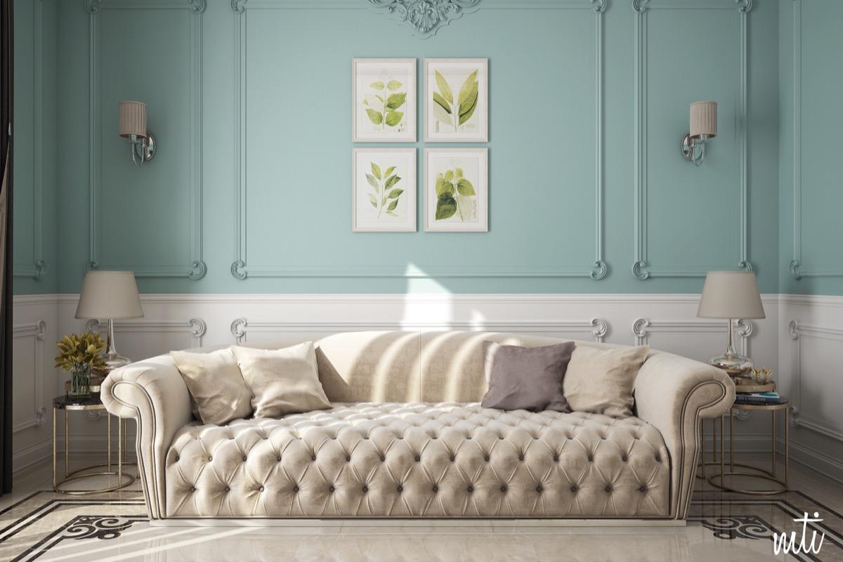 beautiful blue living room