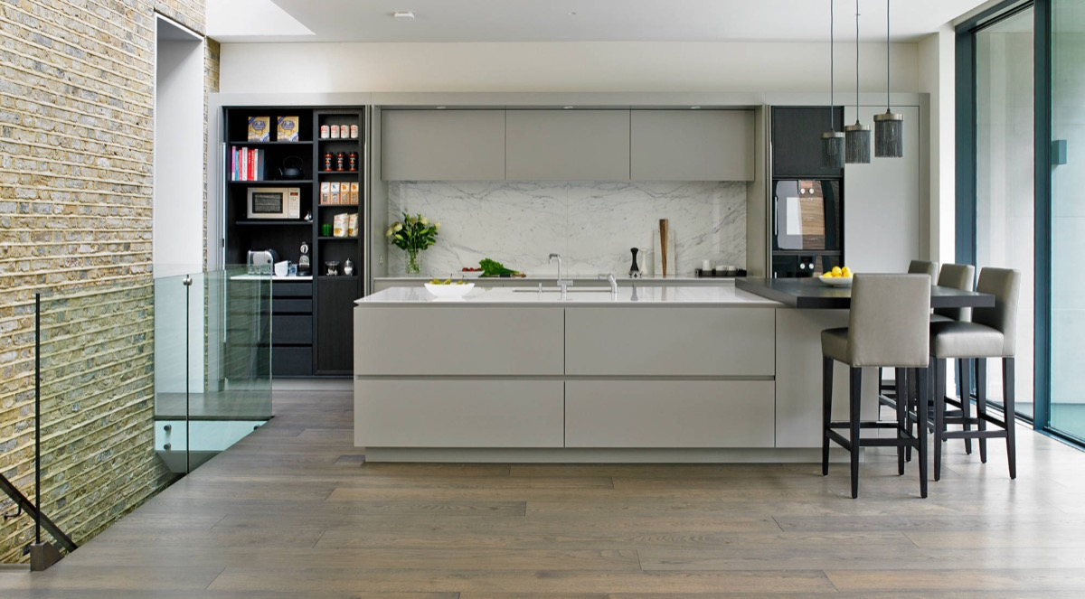 spacious trendy kitchen