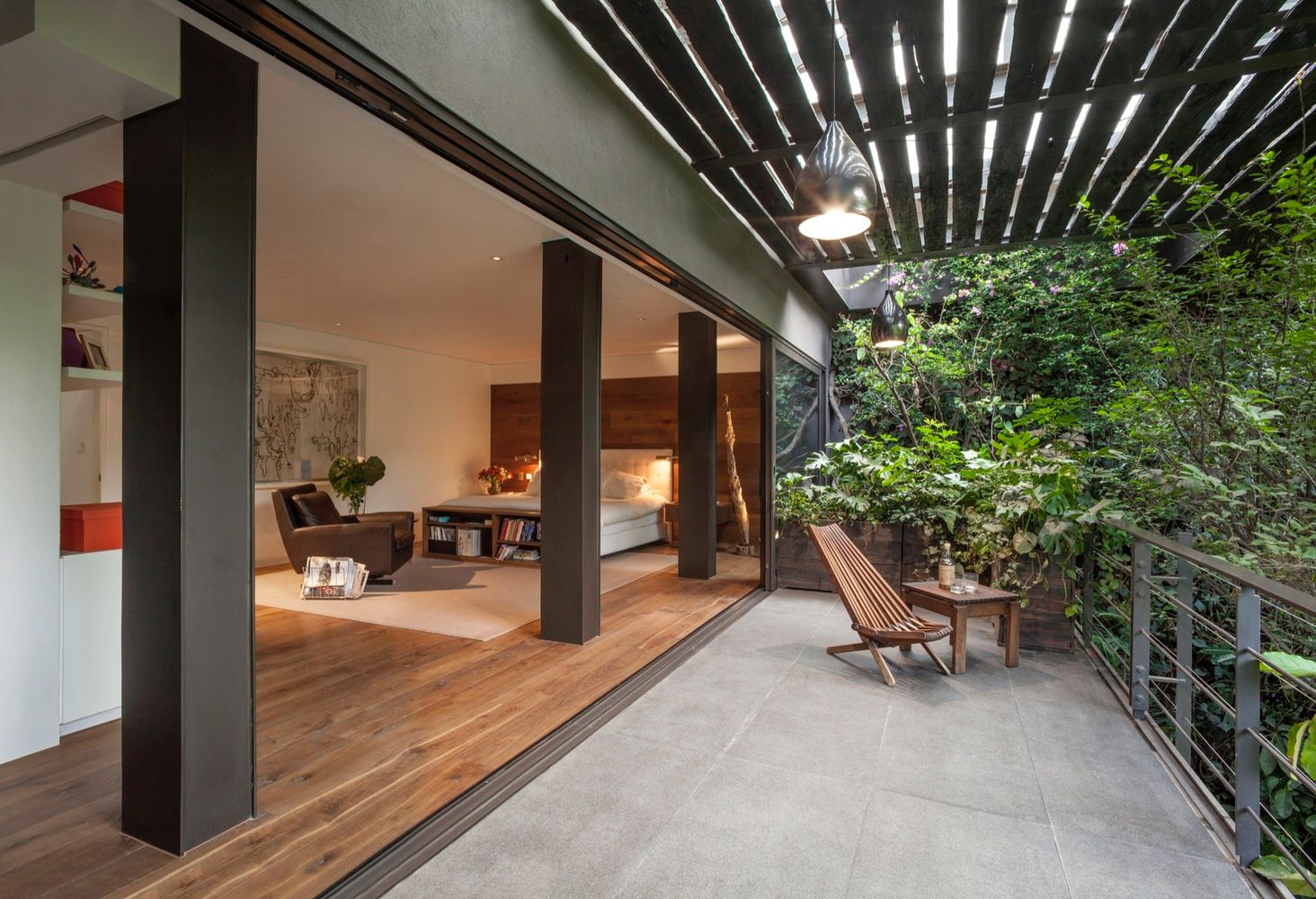 interior design with a natural view