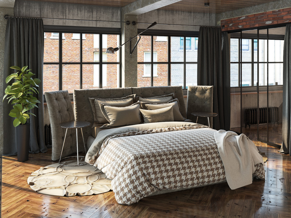 industrial chic bedroom design