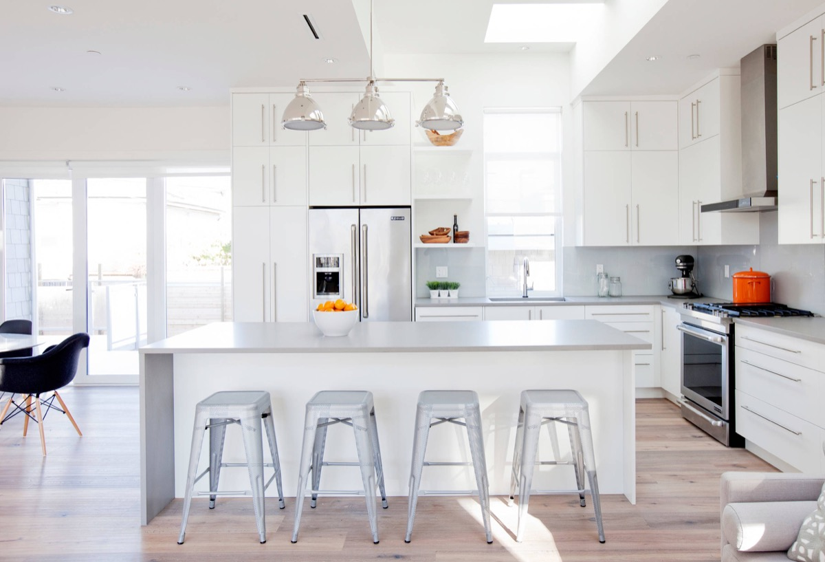 white modern kitchen decor