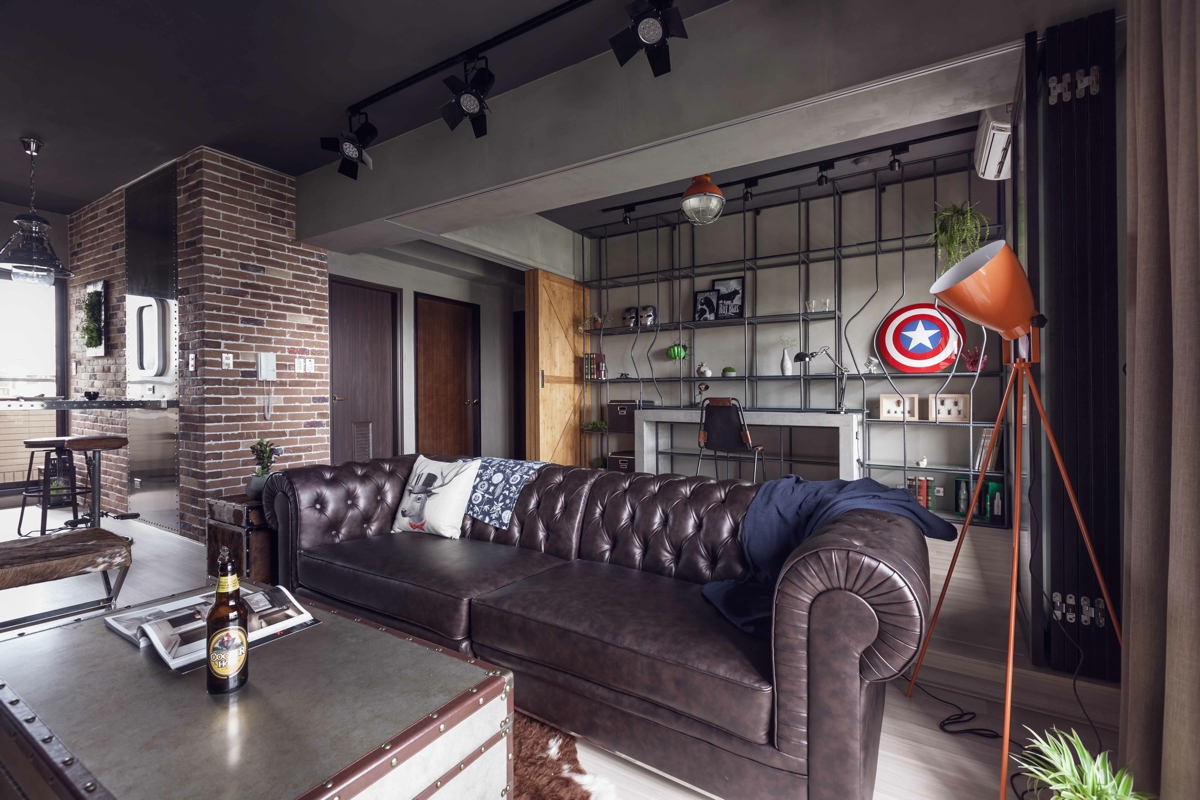 House Design heroes theme for living room & Fabulous apartment design decorated by industrial feel and modern ...