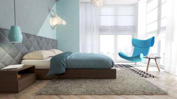 beautiful blue bedroom design