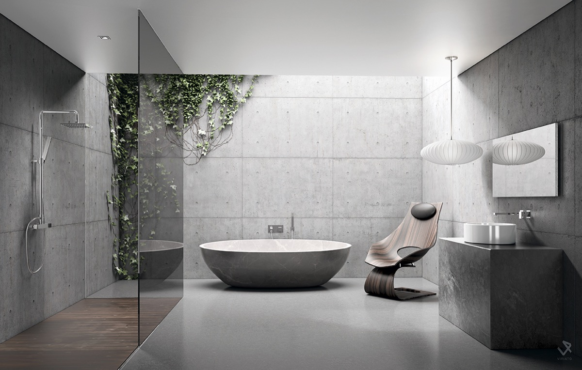 white natural bathroom design
