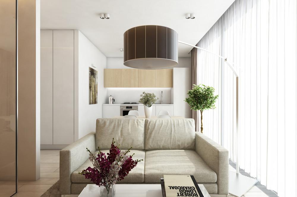 minimalist white living room design