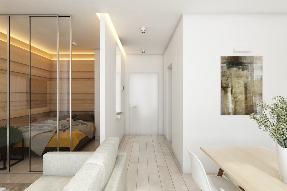 simple white bedroom design