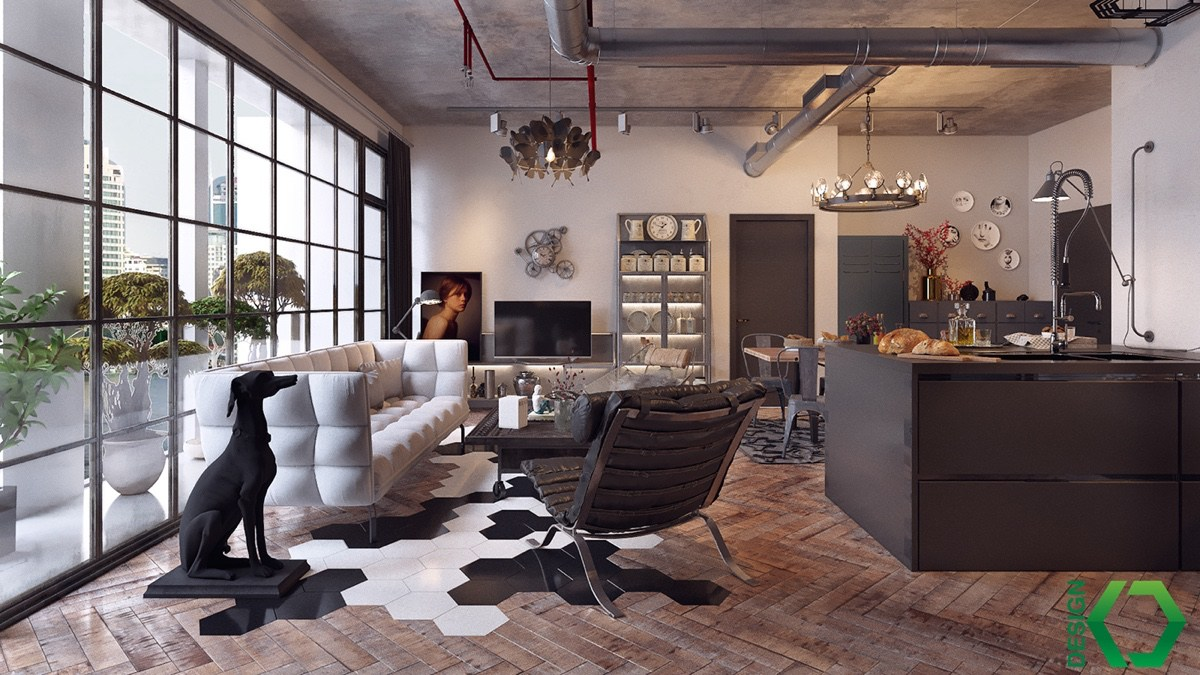 modern vintage apartment