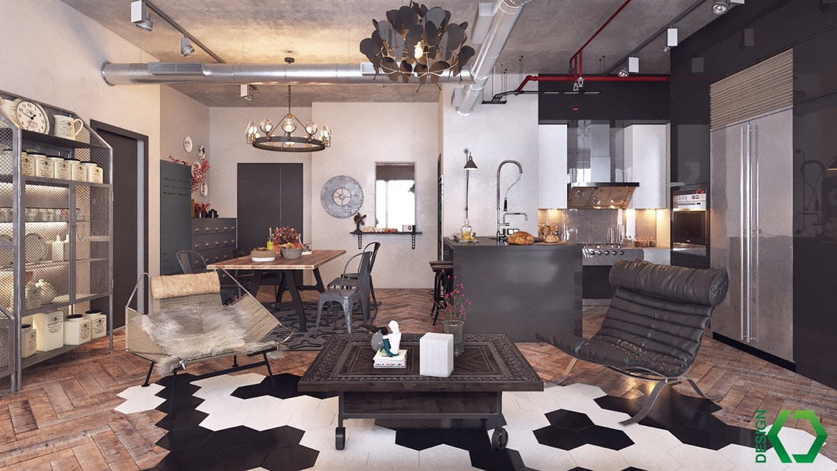 trendy industrial loft design