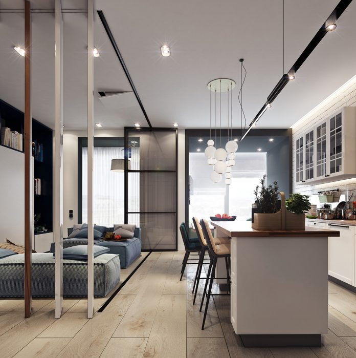 beautiful studio apartment designs combined with modern and chic decor
