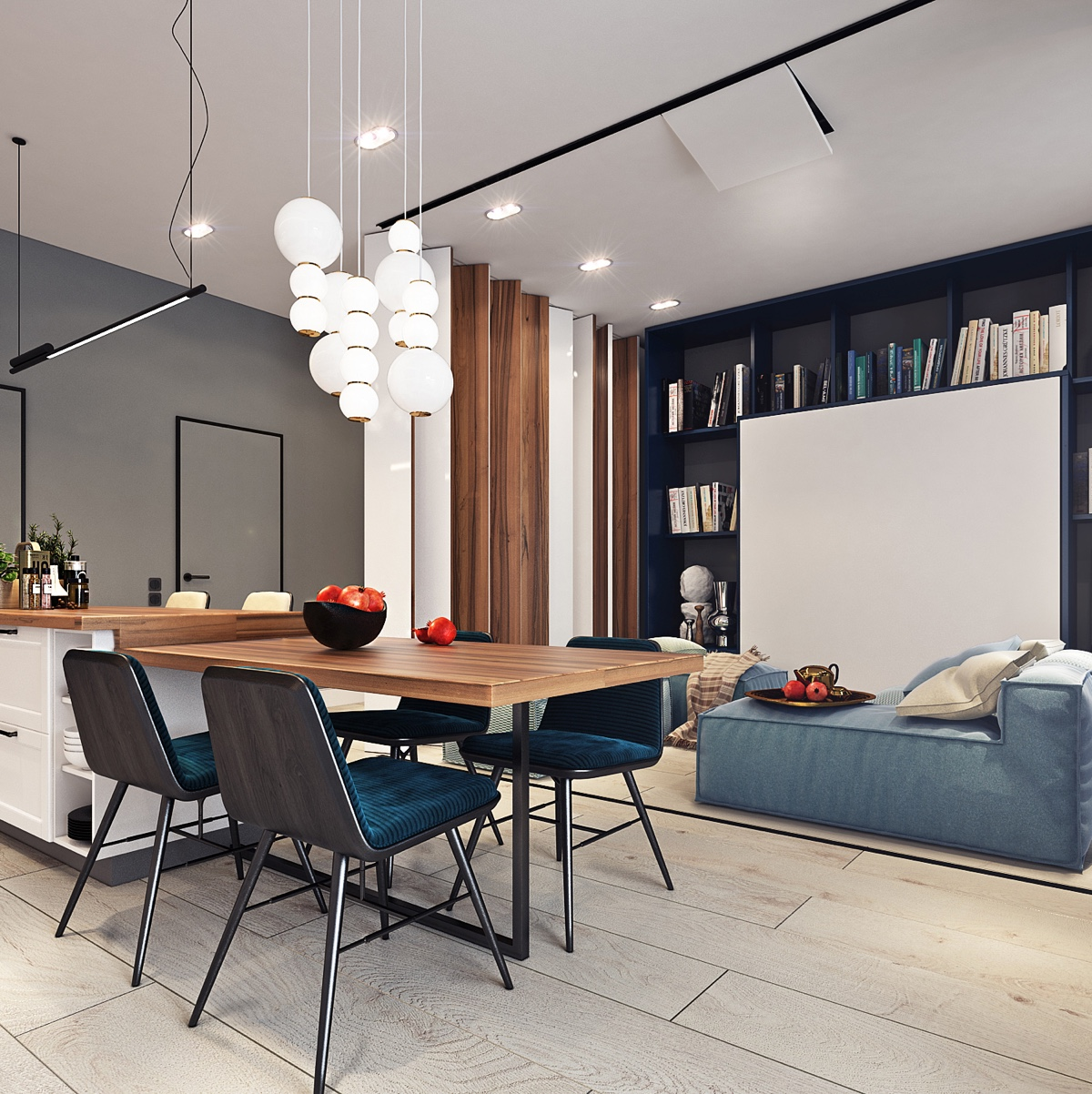 Beautiful studio apartment designs combined with modern for Modern studio apartment design