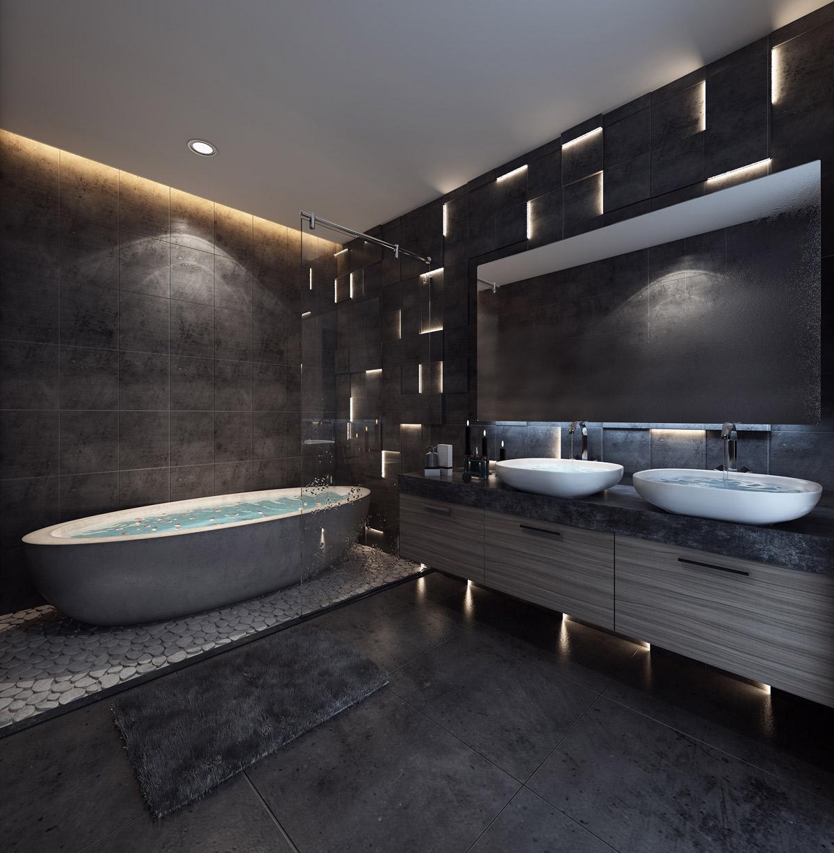 Beautiful bathroom designs arrange with unique and trendy for Unique bathroom designs
