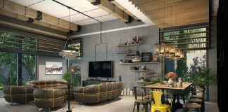 an industrial loft apartment