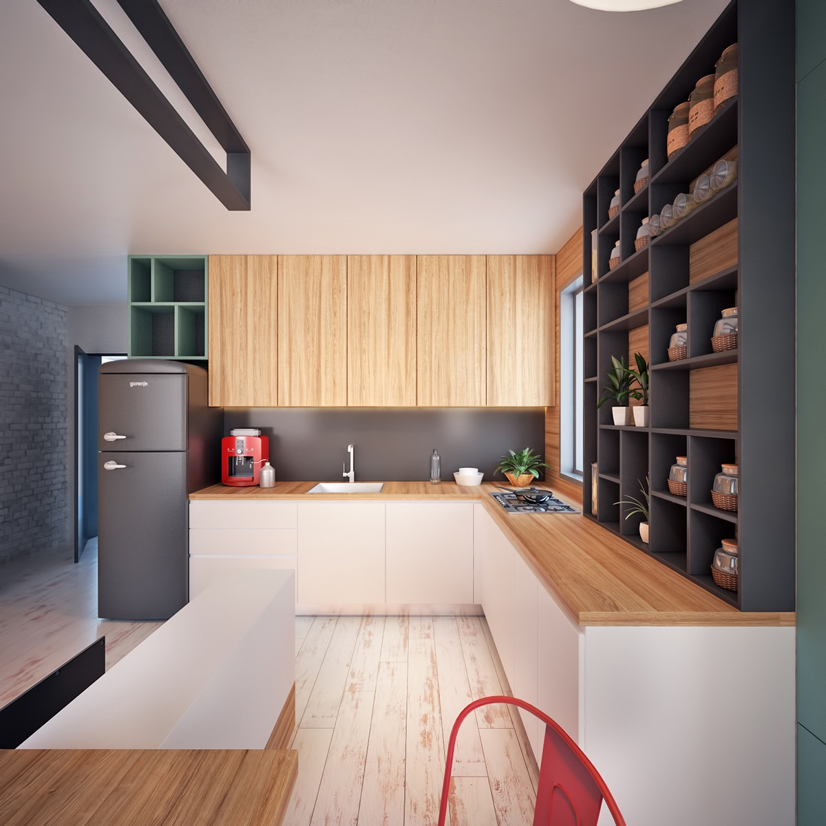 simple wooden kitchen design