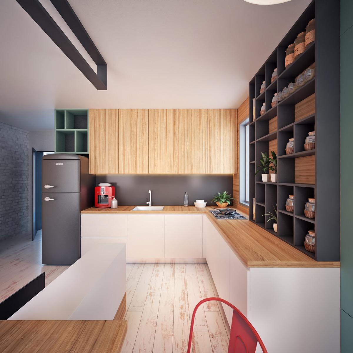 simple wooden kitchen design