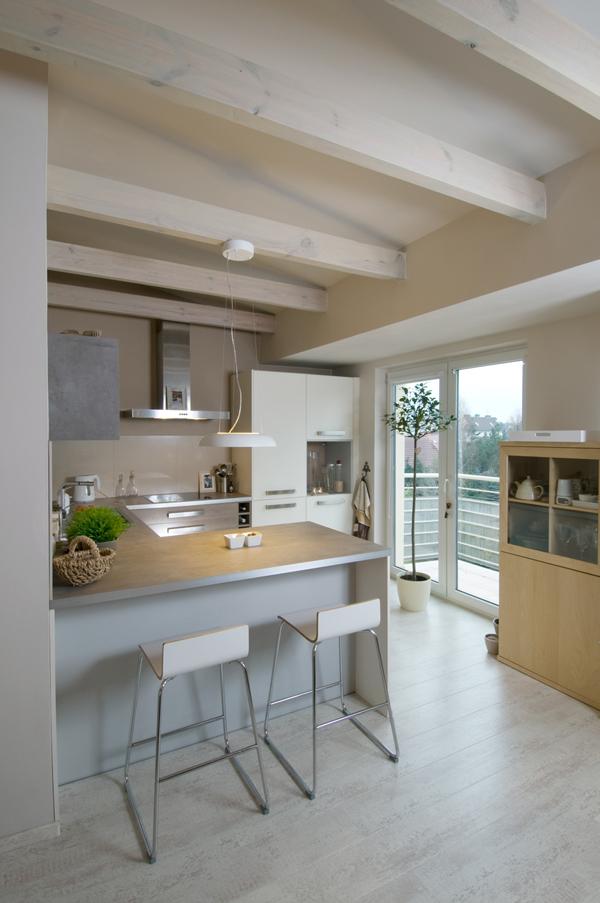 loft interior with soft color decor