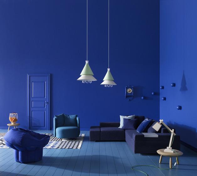blue splash swedish interior