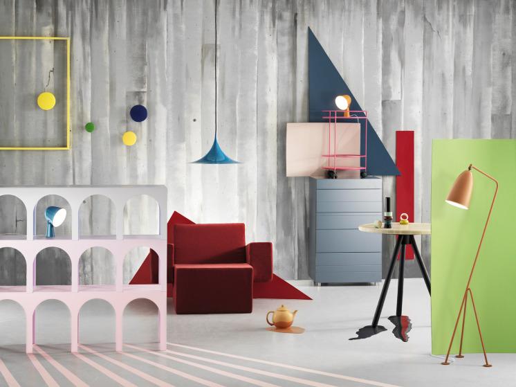 colorful swedish room design