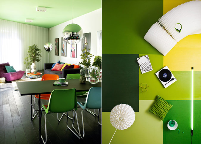 perfect green dining room design