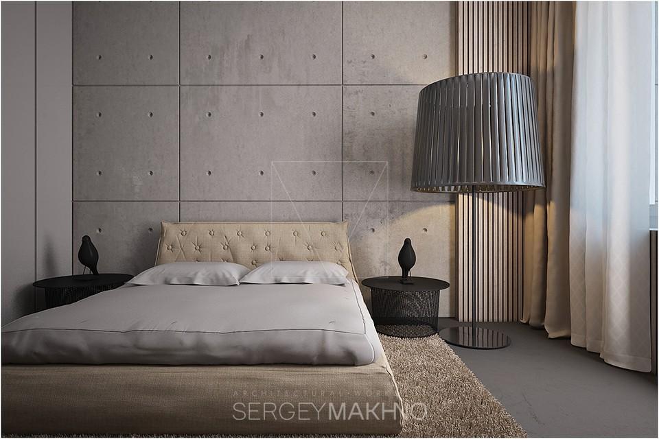warm industrial bedroom design