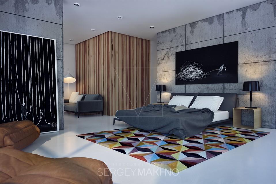 trendy gray bedroom design