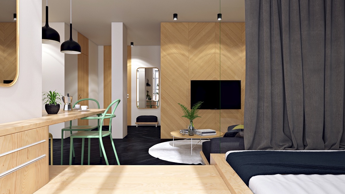 Applying these 3 small apartment designs with a beautiful for Apartment design guide part 3
