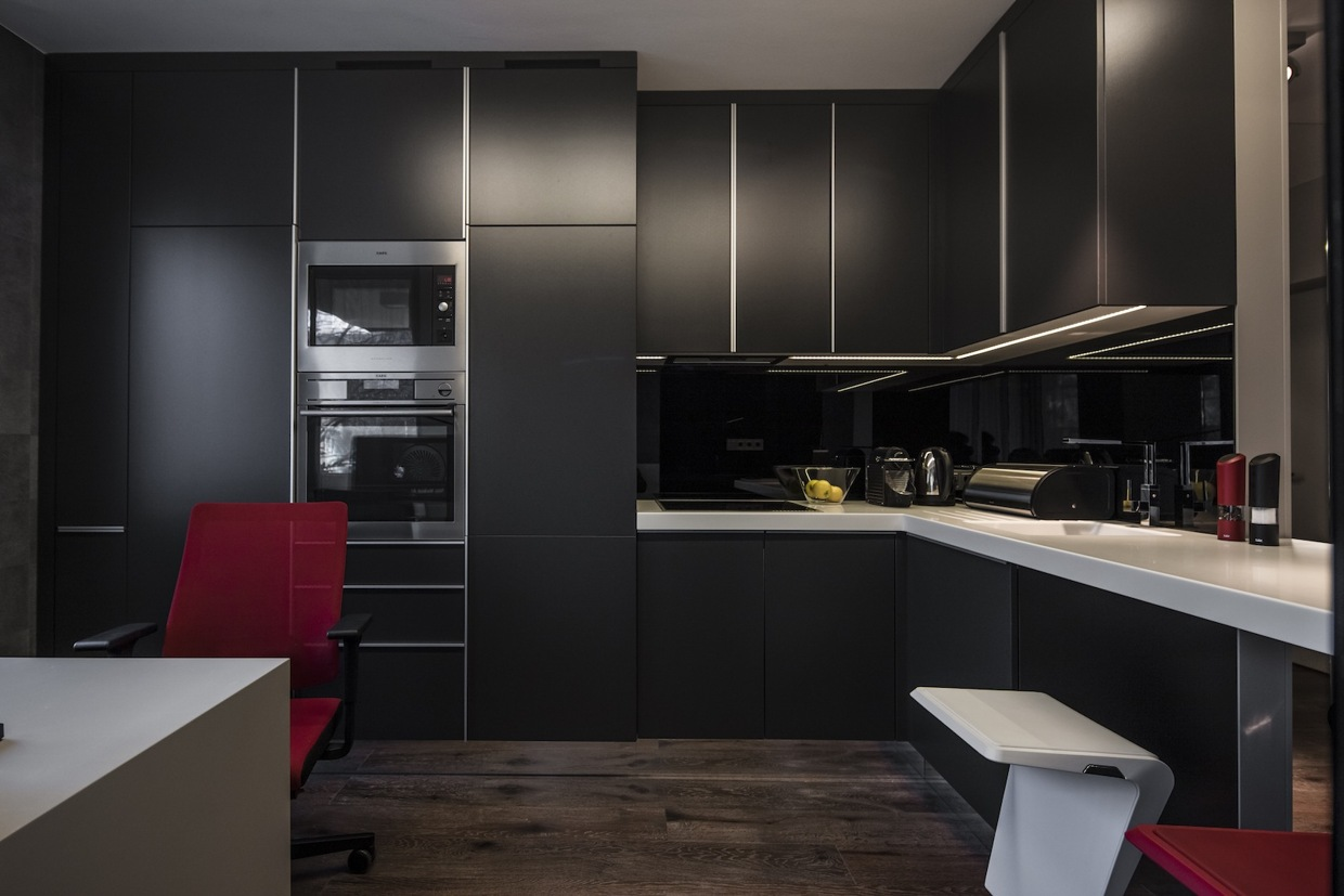 modern dark kitchen design