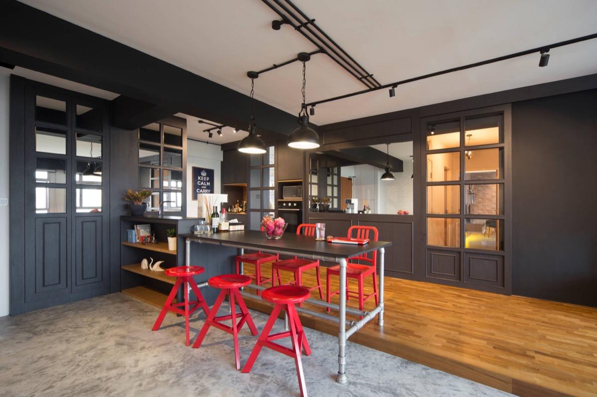 gorgeous industrial kitchen design