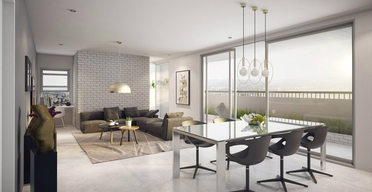 Find the suitable open plan apartment designs with for Open concept interior design