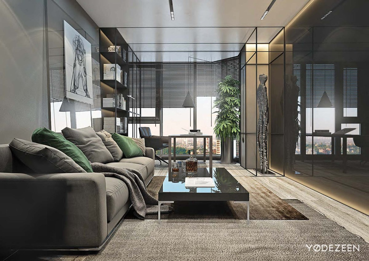 living room design with organic style