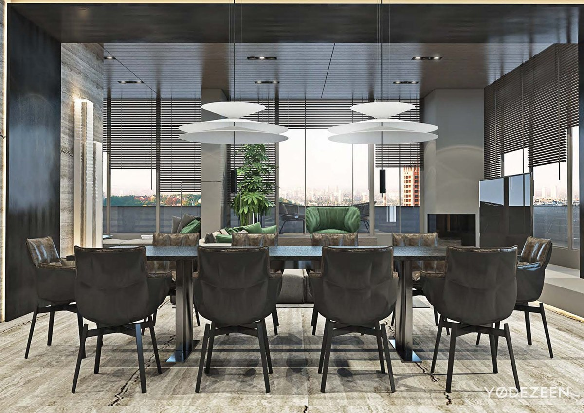 dining room design with organic style