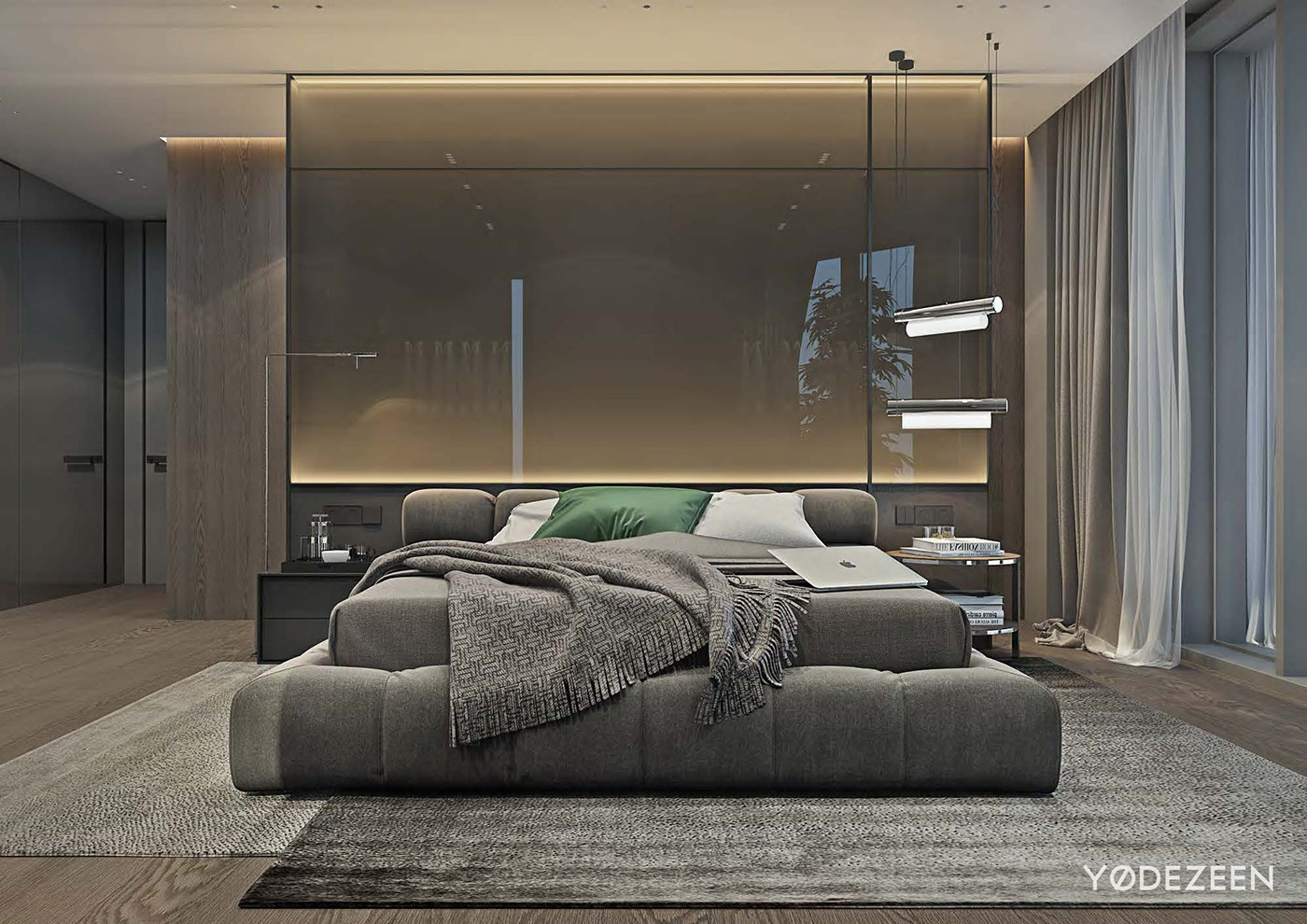 luxury gray bedroom design