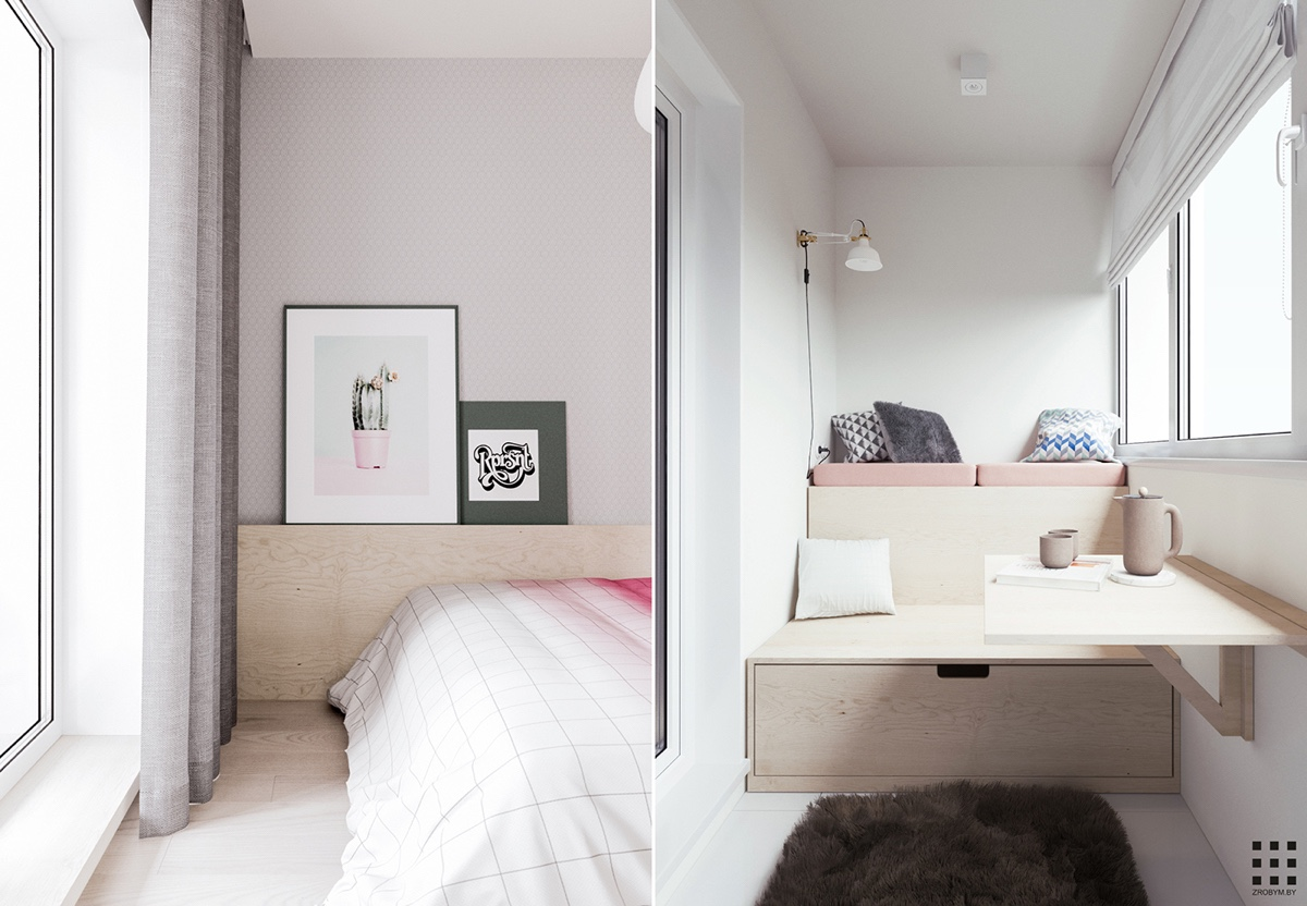white scandinavian bedroom