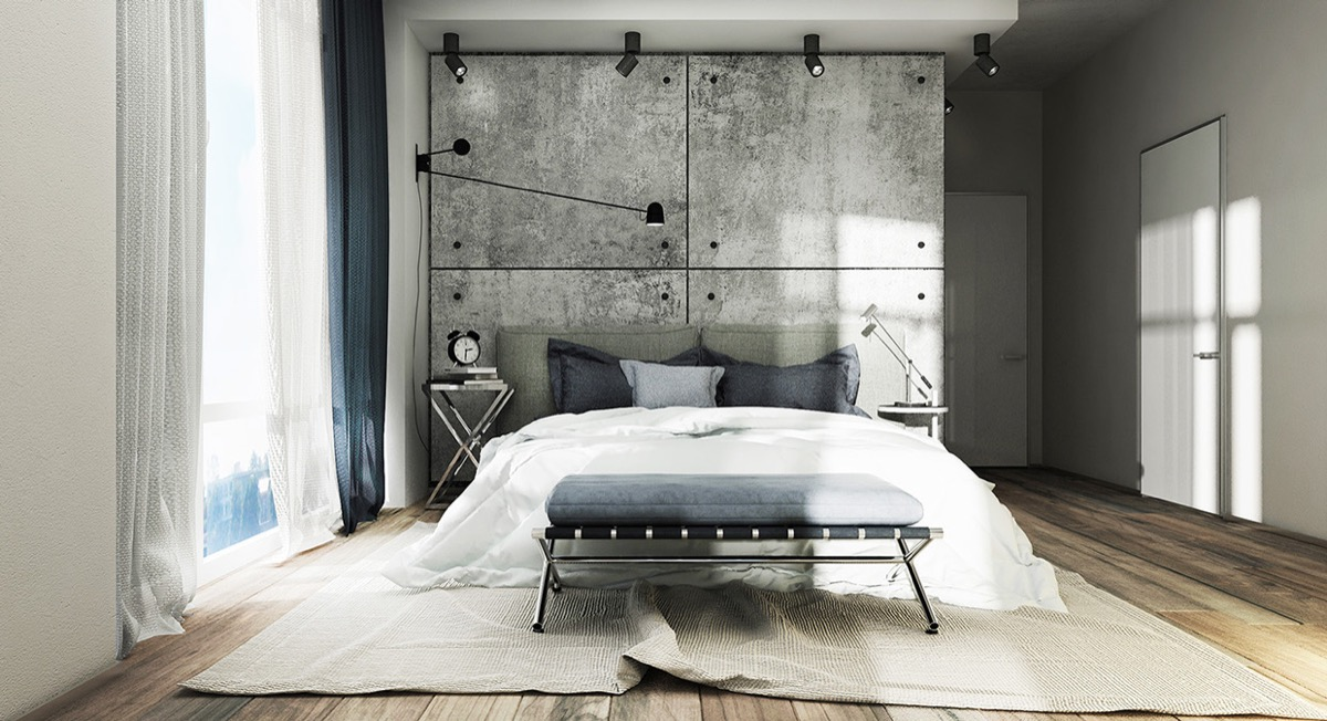 Lucas Studio Contemporary Gray Bedroom Design