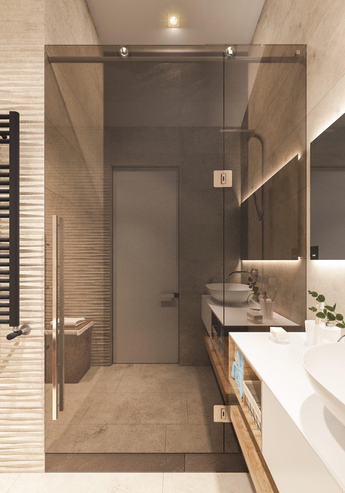 contemporary wooden bathroom