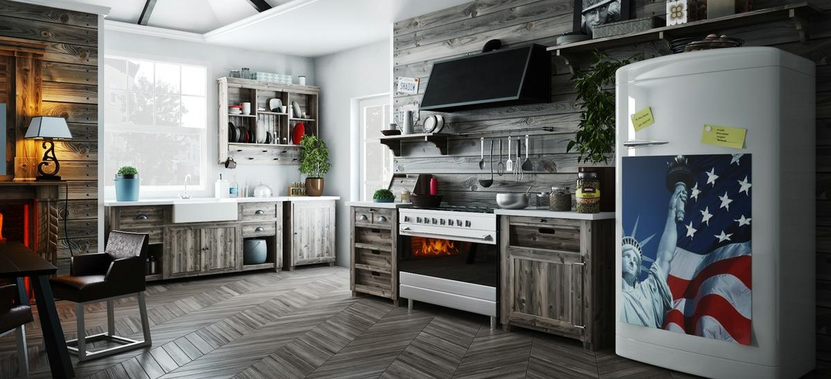 gray modern kitchen design