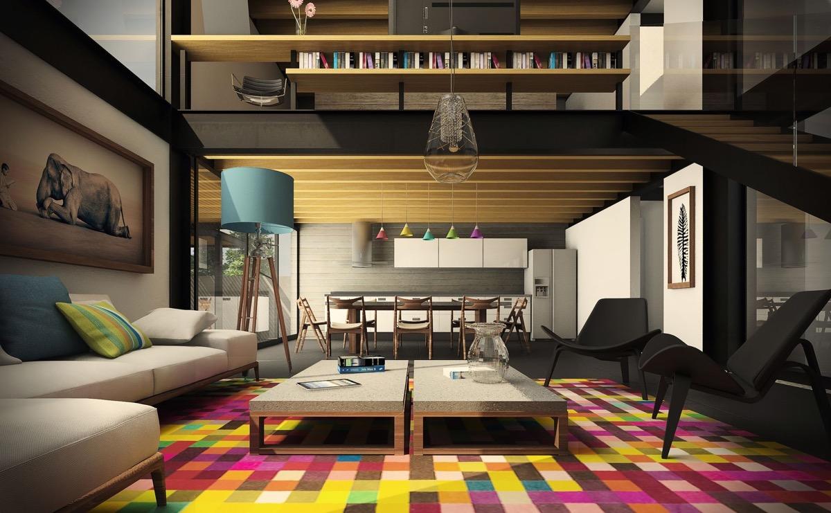 colorful living room design