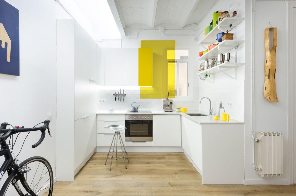 white minimalist kitchen design