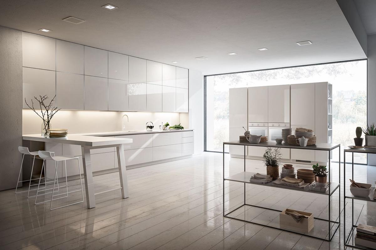 white minimalist kitchen decor