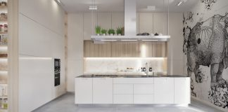white interior kitchen designs