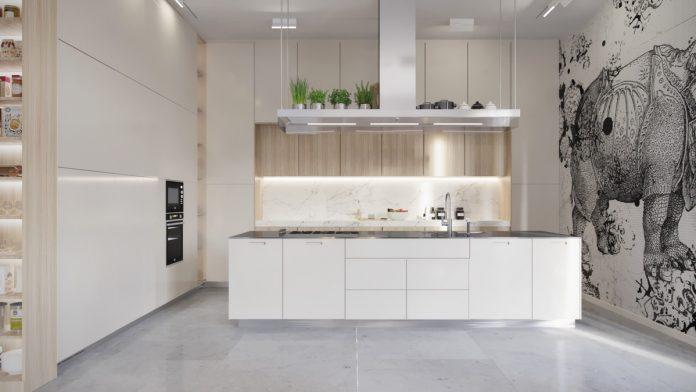 white interior kitchen designs