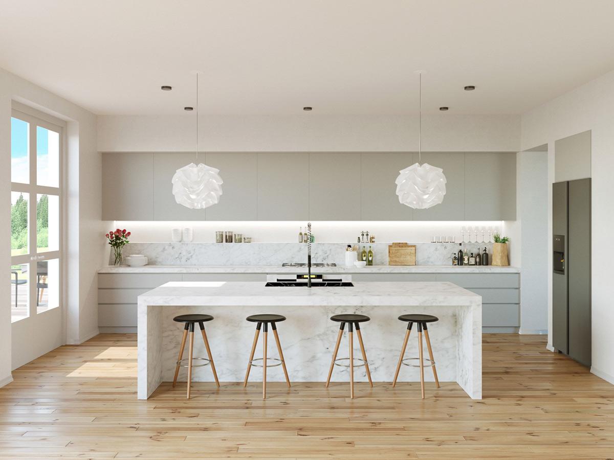 kitchen decor ideas with lighting