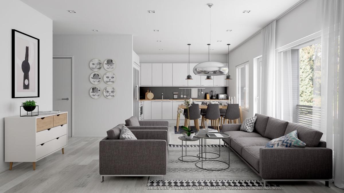 gra and white minimalist design